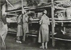Photo Album ~ Women in World War II ~  A Pledge of Silence Casualty's increased so army engineers build bunks up to 3 & 4 high. Nurses cared for the sick and injured in this fashion. Corregidor 42