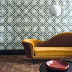 75 Beautiful Yellow Sofa for Living Room Decor Ideas - Decoradeas Wood Effect Wallpaper, Bold Wallpaper, Modern Wallpaper Designs, Contemporary Wallpaper, Living Room Sofa, Living Room Decor, Morrocan Decor, Home Goods Decor, Home Decor