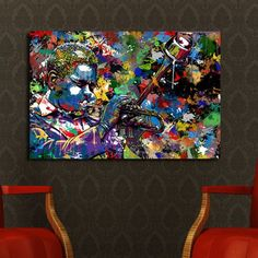 'Jazz Musician' Graphic Art on Wrapped Canvas