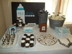 my baby shower - Milkaholic themed