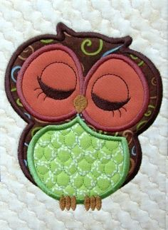 Cute Owl Appliques Machine Embroidery Design by EmbroideryGarden