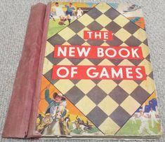 "Vintage ""The New Book of Games"" With 6 Games Boards & How to Play Classic Toys, New Books, 1920s, Board Games, Boards, Amp, Play, Vintage, Planks"