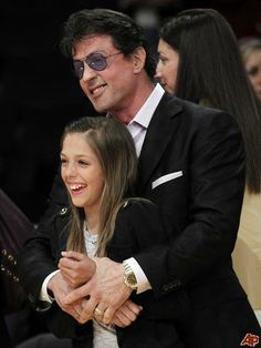 Stallone and his daughter