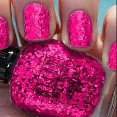 glitter nail polish. Kirbi!