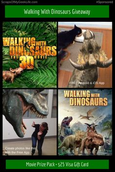 Walking With Dinosaurs Prize Pack #Giveaway ($25 Visa GC) #Spon