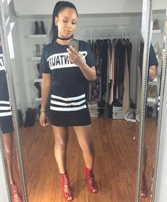 Ready Top: @6ixside  Skirt: @forever21  Heels: @lolashoetiquedolls