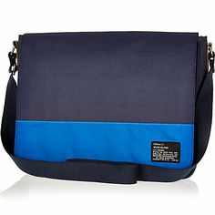 Navy two-tone flap over bag $40.00 river island