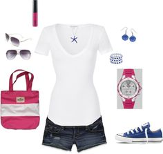Classic White Tee Casual, created by ingram0229 on Polyvore