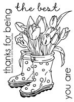 BRAND NEW - Bootiful Tulips - Greenhouse Society May 2015 (Shipping 5/15)
