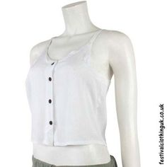 These white rayon hippy crop tops are just wonderful in the summer. Designed to keep you hippie folk cool and looking great! Clothing Company, Clothing Items, Festival Outfits, Festival Clothing, Festival Crop Tops, Hippie Tops, Hippie Outfits, Looks Great, Vest Tops