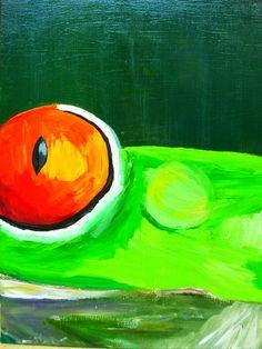 Hier is sprake van een complementair kleurcontrast, is gedaan met de kleuren oranje- rood en groen