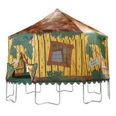 Bazoongi Jump King Treehouse Tr&oline Tent $189.99  sc 1 st  Pinterest & Trampoline tent bought on amazon | Nicholasu0027s Thomas the Train ...