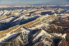 Rocky mountains aerial photo By Chuck Haney