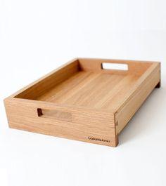 white oak tray