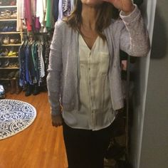 Lace bomber Very pretty baby blue and pink lace bomber jacket lined with pockets zips up the front Lauren conrad Jackets & Coats