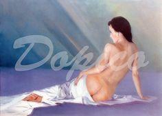 Desnudo/Nu/Nude. Técnica/Technique: Óleo/Oil on canvas. Tamaño/Dimensións/Size: 92 x 65 cm. Referencia/Referente/Reference: CUADROS0013.
