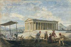 James Stuart View of the Temple of Theseus, Athens from the South West. Gouache x Athens Acropolis, Athens Greece, Library Drawing, The V&a, James Stuart, Gouache, Art Museum, Temple, Antiques