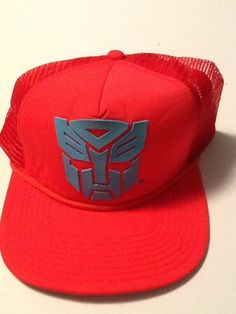 e01003a8dc564 Transformers Hat Cap Red Trucker Snapback MARVEL COMICS COSTUME COSPLAY HAT   Bioworld  BaseballCap Comic