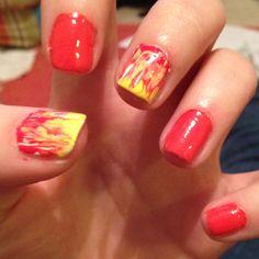 Hunger games nails... Katniss Everdeen: the girl on fire