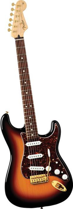 Fender Deluxe Player's Stratocaster Electric Guitar 3-Tone Sunburst Rosewood Fretboard