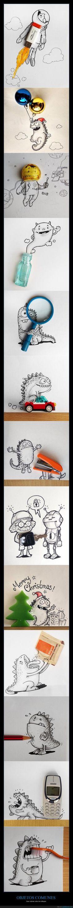 OBJETOS COMUNES - Que cobran vida con dibujos