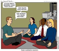 OMG - one of the funniest geek cartoons to date!!   Yoga Geeks, for more funnies go to http://www.LikeSocialMedia.com