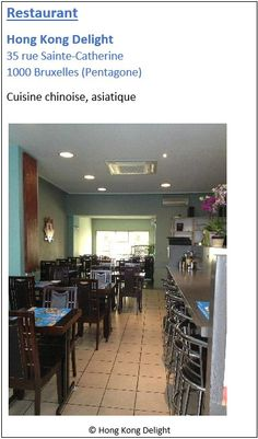 Restaurant Hong Kong Delight - 35 rue Sainte-Catherine - Pentagone