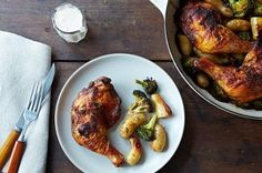 Roasted Achiote Chicken with Potatoes, Broccoli, and Tangerine Aioli Recipe on Food52 recipe on Food52