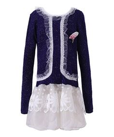 Another great find on #zulily! Purple Lace-Trim Dress - Toddler & Girls #zulilyfinds
