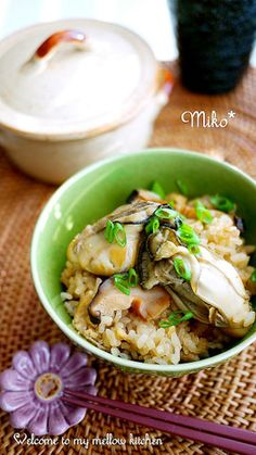 Takikomi-gohan, Japanese Seasoned Rice with Oysters and Ginger