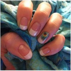 Jamberry mixed manicure: French tips and shake your tail feather! Nailsbyamy.jamberry.com