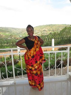 The traditional Rwandan umushanana that I wore to my first Rwandan wedding. I didn't understand much of what was going on, but at least I got the outfit right! #Rwanda #my250