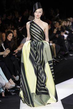 Giorgio Armani Prive  Graphics and billowy silhouettes underpinned Mr Armani's Turkish couture vision.