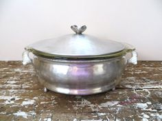 Hammered Aluminum Covered Dish Vintage by VintageShoppingSpree, $18.00