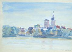 Stralsund, Aquarell Clara Arnheim 1865 Berlin - 1942 Theresienstadt