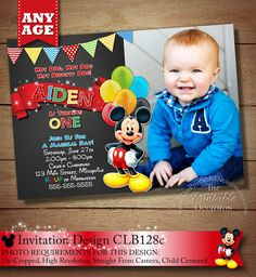 17 Best Chalkboard Mickey Mouse Invitations Party Printables