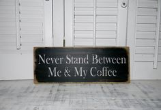 Coffee Sign Kitchen Wall Decor Rustic Country by hensnesttreasures, $12.00