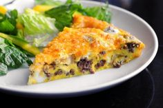 Cheeseburger Frittata (I'll vegetarianize it, of course. :))