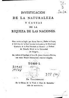 Investigacion de la naturaleza y causa de la riqueza de las naciones - Adam Smith - Google Libros