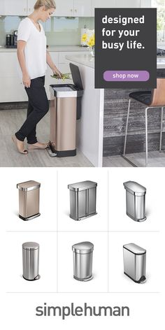 We create trash cans that are neat, sophisticated and engineered for years use in the busiest environments (like your kitchen). Kitchen Colors, Kitchen Design, Interior Design Living Room, Living Room Designs, Mason Jar Kitchen, Farmhouse Kitchen Decor, Small Dining, Updated Kitchen, Kitchen Storage