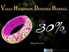 Get this Violet Designer Handmade Bangle with Work now at best price...  Product Name:Violet Designer Handmade Bangle with Work Product Code: MIJA9MB048 Product Price:Rs.979 Buy at link:http://bit.ly/1RqdZIW