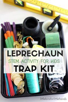 Building A Leprechaun Trap Kit St Patricks Day STEM Activity for Kids