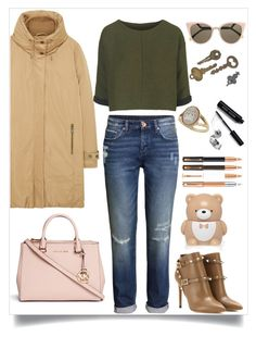 """""""sunnies"""" by couldyouatleast ❤ liked on Polyvore featuring MANGO, H&M, Topshop, Valentino, Fendi, Miss Selfridge, Bobbi Brown Cosmetics, Forever 21 and Michael Kors"""