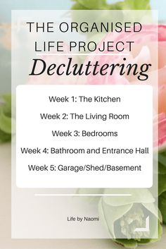 How to declutter your home in one month with The Organised Life Project - Decluttering