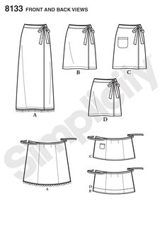 Great Image of Wrap Skirt Sewing Pattern Wrap Skirt Sewing Pattern Simplicity Simplicity Pattern 8133 Misses Learn To Sew Wrap Skirts Beginner Sewing Patterns, Skirt Patterns Sewing, Vogue Sewing Patterns, Simplicity Sewing Patterns, Skirt Sewing, Wrap Skirt Patterns, Sewing Tips, Sewing Projects, Sewing Hacks