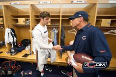 Wow! Who woulda thought... :) Jay Cutler, We Bear, Chicago Bears, Locker, Blue Orange, Monsters, Nfl, Football, Boys