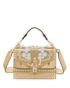 Kan I Wonder Monster Shoulder Bag, White/Gold