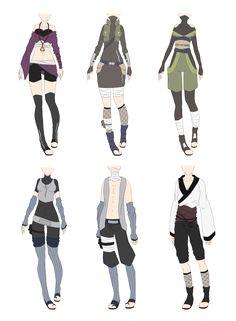 Naruto Outfit Adoptables 5 [CLOSED] by xNoakix3.deviantart.com on @deviantART