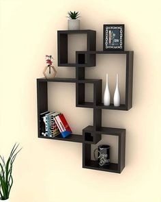 Woodkartindia Intersecting Wall Mount Shelf Wall Shelf Set of 3 Floating Shelf Storage Rack Wooden Wall Shelf for Home Decor,Living Room Decor,Office Wall Decor,Gifting Items (Standard, Brown) Decor, Home Room Design, Home Decor Shelves, Wall Shelf Decor, Wall Shelves Design, Office Wall Decor, Home Decor, House Interior Decor, Home Decor Furniture