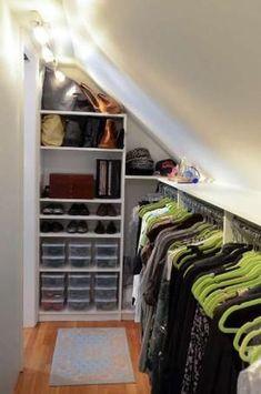 Attic Master Bedroom Inspiration 41 – Furniture Inspiration Source by suehayg closet Attic Wardrobe, Attic Closet, Closet Bedroom, Master Closet, Attic Office, Closet Wall, Closet Space, Shoe Closet, Master Suite